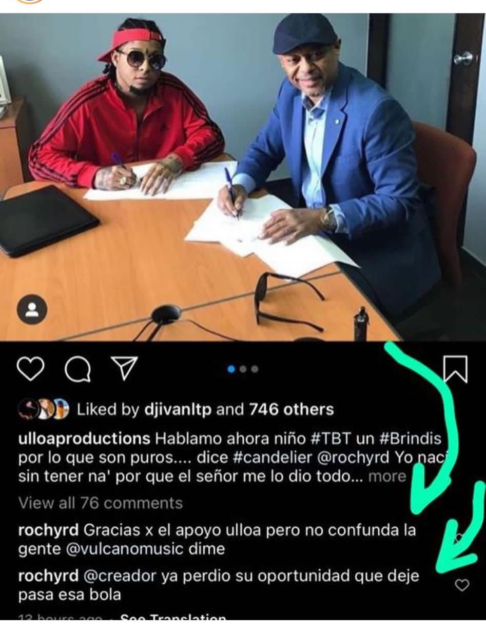 Rochy RD y Máximo Andújar durante la firma del contrato de representación.