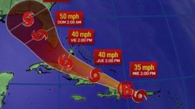La tormenta Fred avanza hacia RD.
