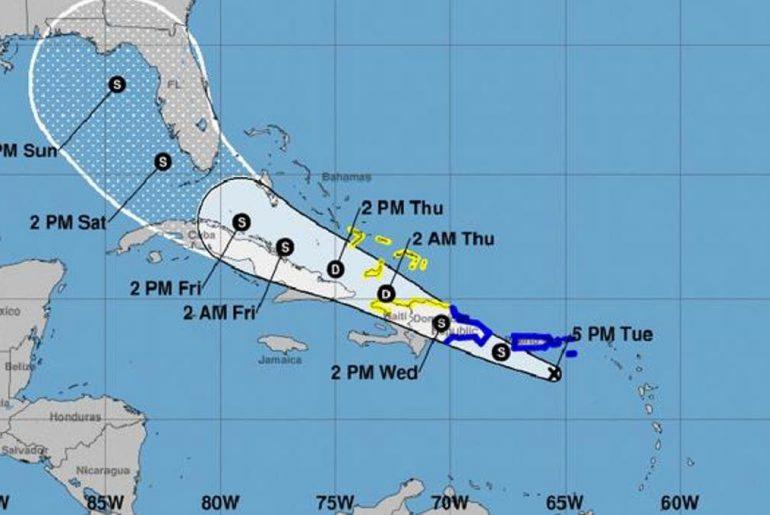 la tormenta Fred traerá mucha lluvia hoy para todo el territorio nacional.