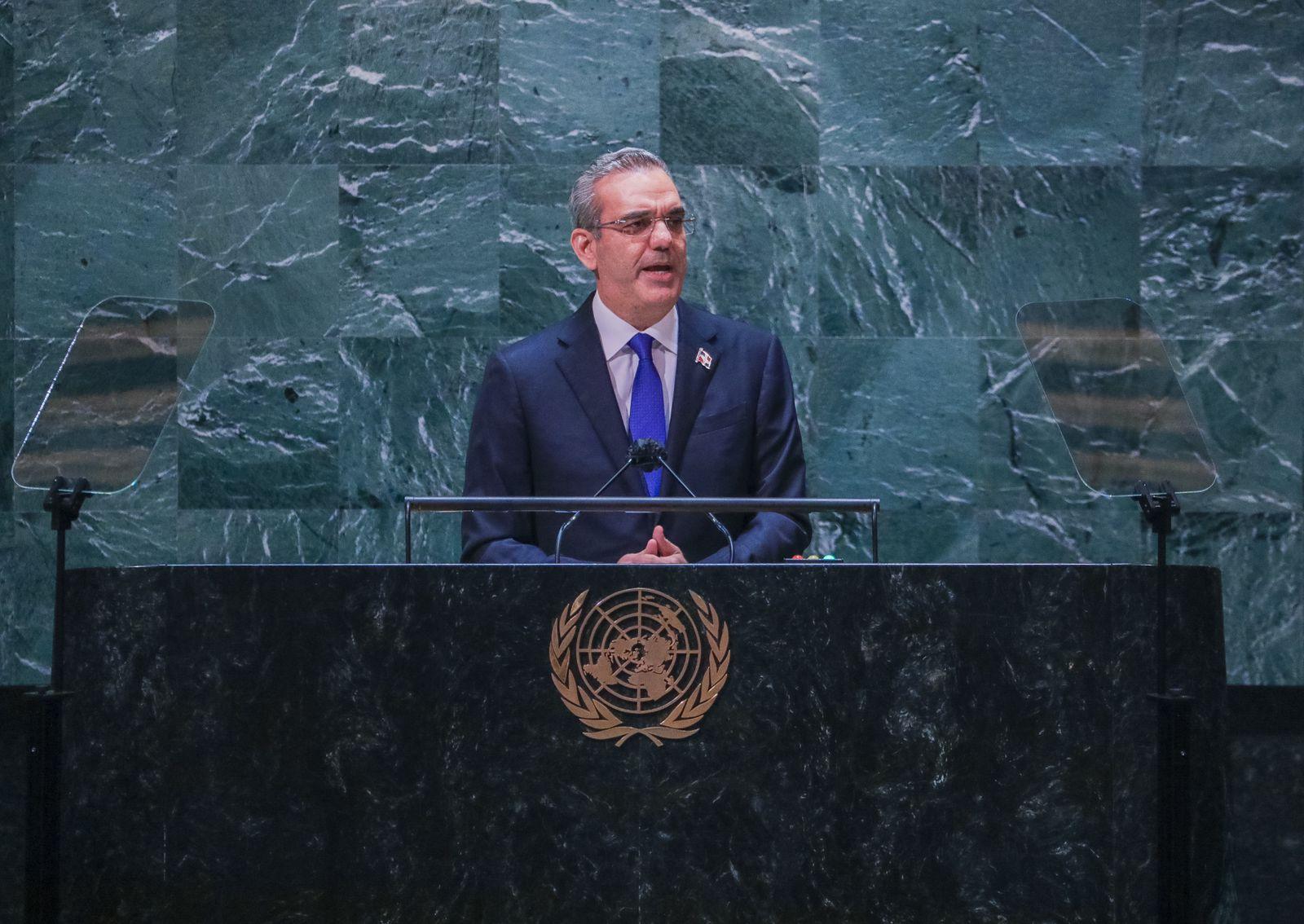 El presidente Luis Abinader en su alocución ante la ONU fue enfático en que hay que afrontar la crisis haitiana.