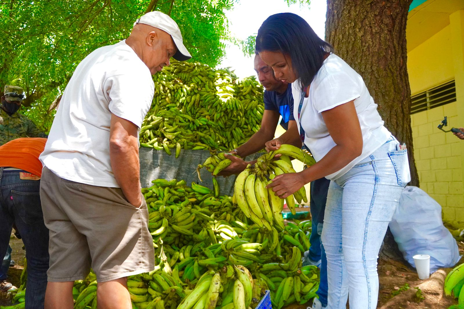 Inespre vende plátanos a 1 peso.