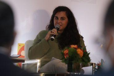 Ceci Moltoni, de Caribe Alternativo, durante su participación en el foro Naranja sobre las industrias culturales y creativas.
