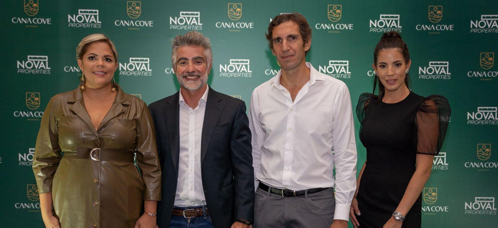 Yahaira Batista, César Latrilla, Fabio la Rosa y Lorena Sevilla, en la presentación de Cana Cove.